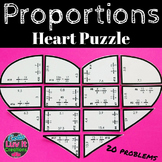 Valentine's Day Math Proportions Heart Puzzle Valentine's