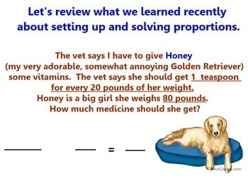 Proportions Applications Proportional Word Problems Smartboard Lesson Answers