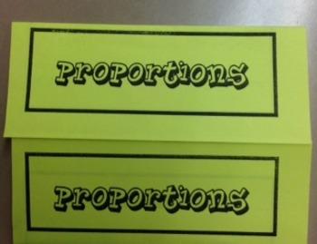 Proportions (Basic) Foldable
