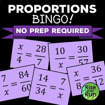 Proportions Bingo Game