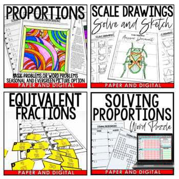 Solving Proportions Activity Pack
