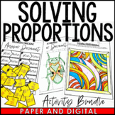Solving Proportions Activity Pack - Distance Learning