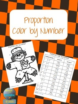 Proportions - Color By Answer Number