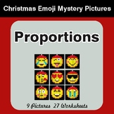 Proportions - Color-By-Number Christmas Math Mystery Pictures