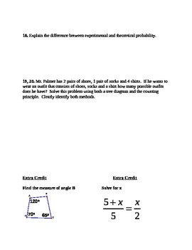 Proportions, Corresponding Angles/Sides, Probability