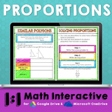 Proportions Digital Interactive Math Notebook