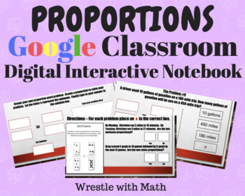Proportions – Digital Interactive Notebook