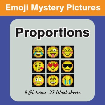 Proportions EMOJI Mystery Pictures