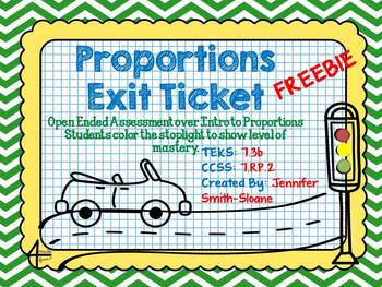 FREEBIE Proportions Exit Ticket