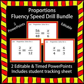 Editable Proportions Fluency
