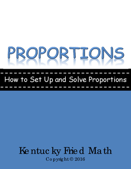 Proportions Foldable for IAN - How to Set Up and Solve Proportions