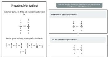 Proportions For The Middle Grades
