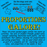 Proportions Worksheets, Notes, Math Poetry, Warm-up Problems