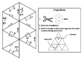 Solving Proportions Game: Math Tarsia Puzzle
