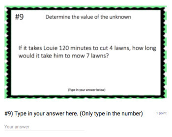 Proportions - (Google Form & Video Lesson!) - Perfect for Google Classroom
