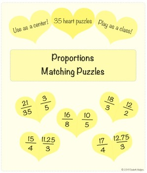 Proportions Heart Puzzles