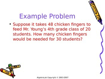 Proportions --How to use proportions to solve word problems