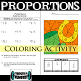 Proportions Interactive Notebook St. Patrick's Day Coloring Activity