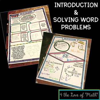 Proportions Introduction and Solving Word Problems No Prep Note Pages
