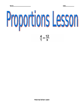 Proportions Lesson
