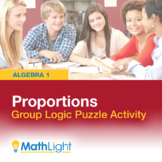 Proportions Logic Puzzle Group Activity | Good for Distanc