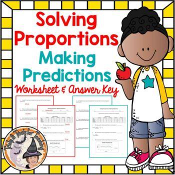 Solving Proportions Making Predictions Proportional Predic