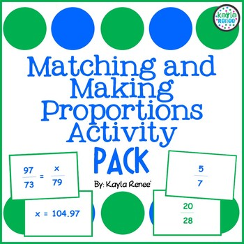 Matching and Making Proportions Activity Pack