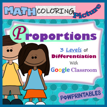 Proportions - Math Coloring Picture Using Google Classroom - Differentiated!!