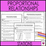 Proportional Relationships Stations