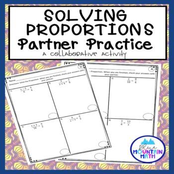 Proportions Partner Practice