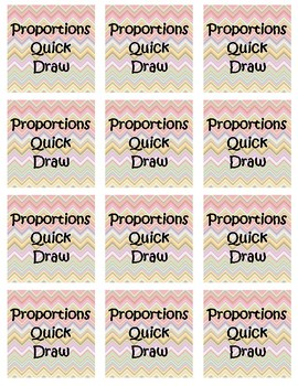Proportions Quick Draw Activity