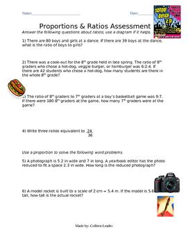 Proportions & Ratios Assessment
