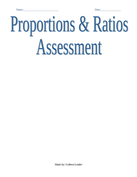Proportions & Ratios Assessment