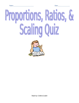 Proportions, Ratios, & Scaling Assessment