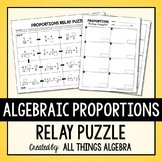 Proportions Relay Puzzle  (Variables on Both Sides)