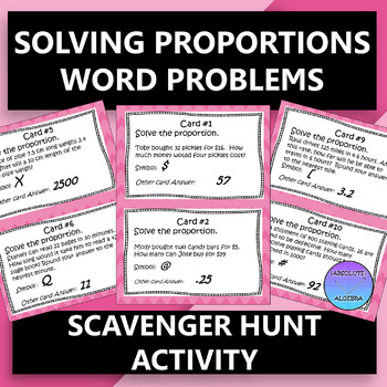 Solving Proportions with Word Problems