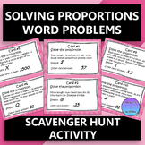 Solving Proportions with Word Problems Scavenger Hunt Activity