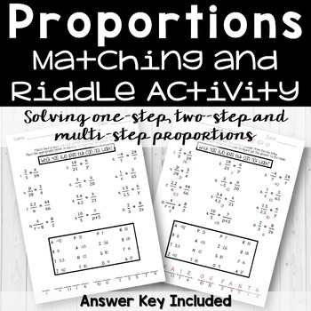 Proportions Riddle Activity