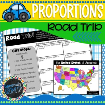Proportions Road Trip! Geometry, Scale factor, Ratios