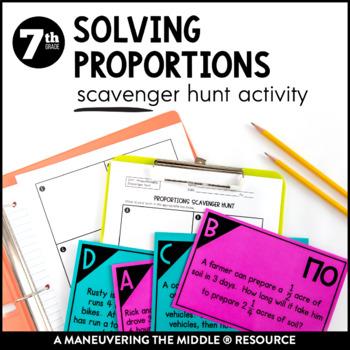 Solving Proportions Real World Scavenger Hunt