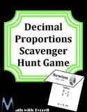 Decimal Proportions Scavenger Hunt Game
