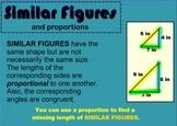 Proportions - Similar Figures SMARTBoard Notebook
