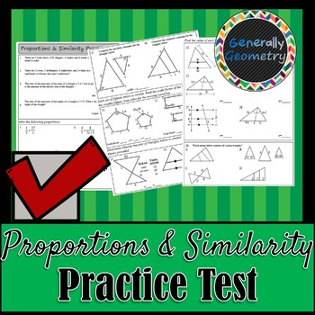 Proportions & Similarity Practice Test