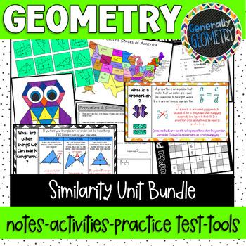 Proportions & Similarity Unit Bundle; Geometry