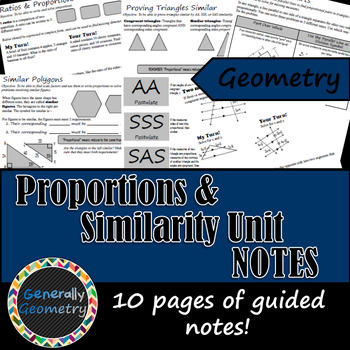 Proportions & Similarity Unit Notes