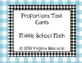 Proportions Task Cards