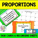 Proportions Task Cards for Distance Learning