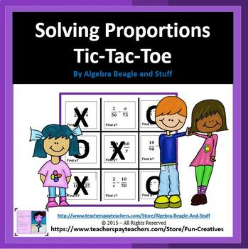 Proportions Tic Tac Toe Game