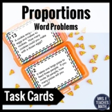 Proportions Word Problem Task Cards