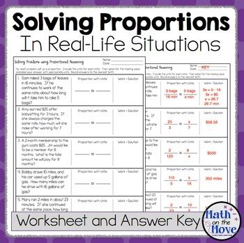 Proportions Word Problem Worksheet - FREEBIE